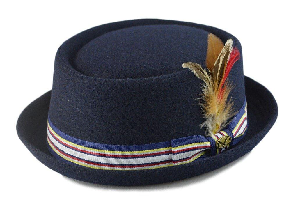 Navy Pork Pie Hat