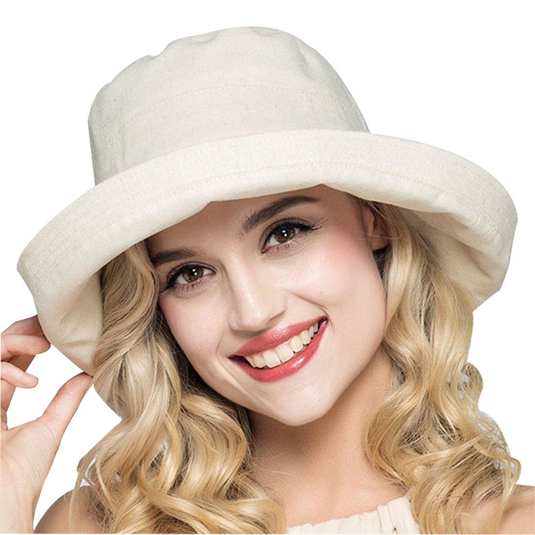 White Brimmed Bucket Hat