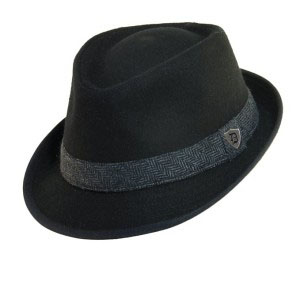 Fedora hat with staple