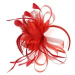 Red Feathered Flower Fascinator