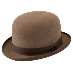 Brown Bowler Cap