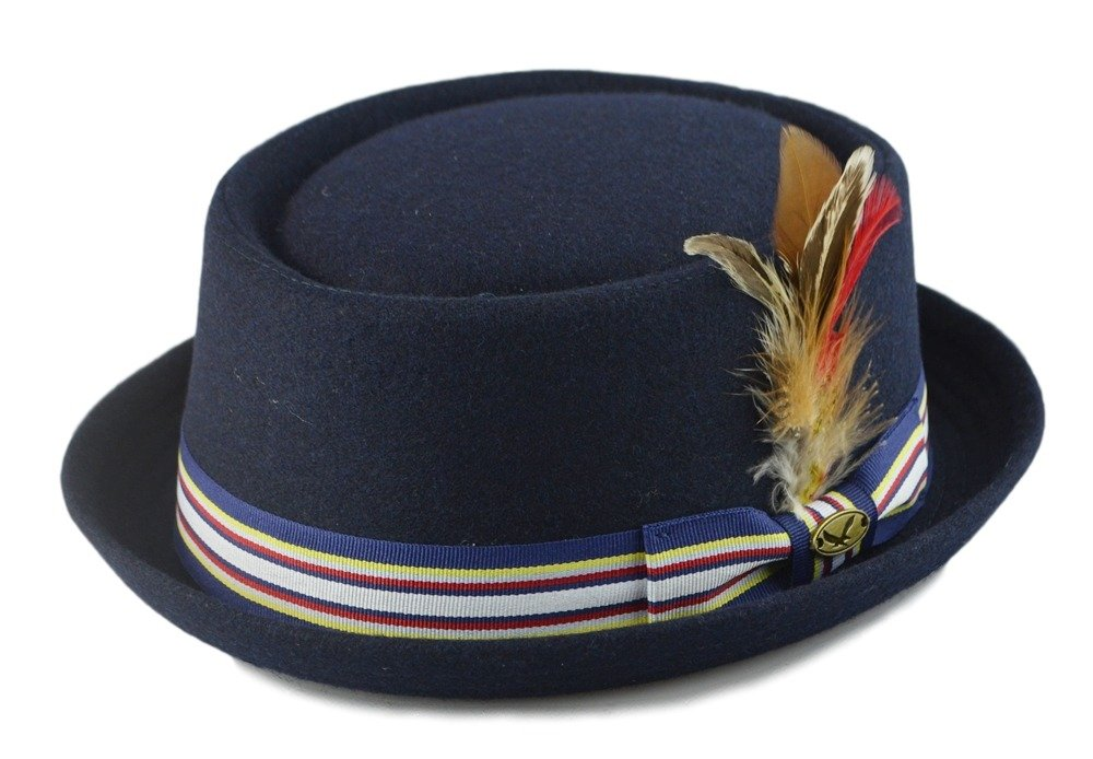 Navy Pork Pie Hat