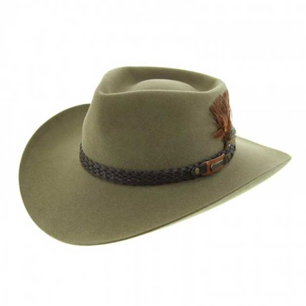 Akubra hat with pre-creased