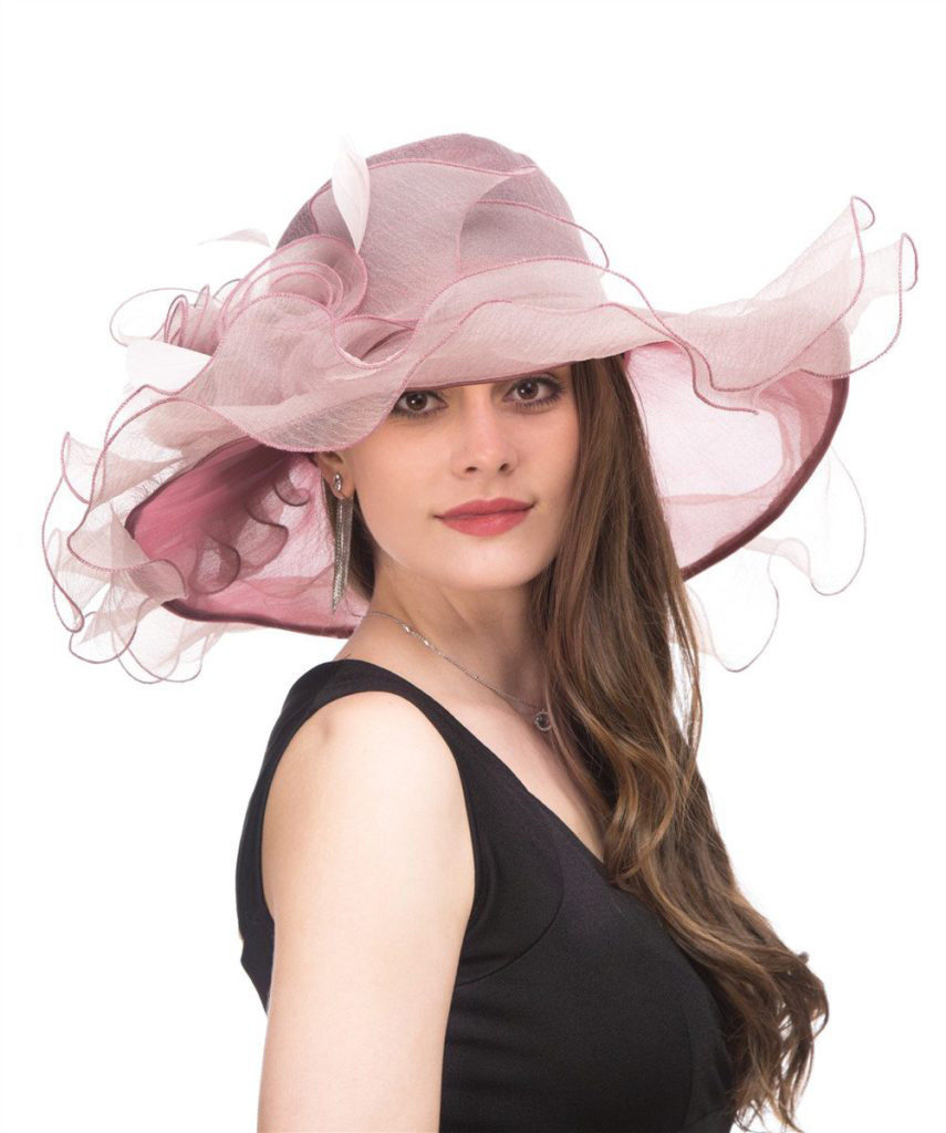 pink wedding hat