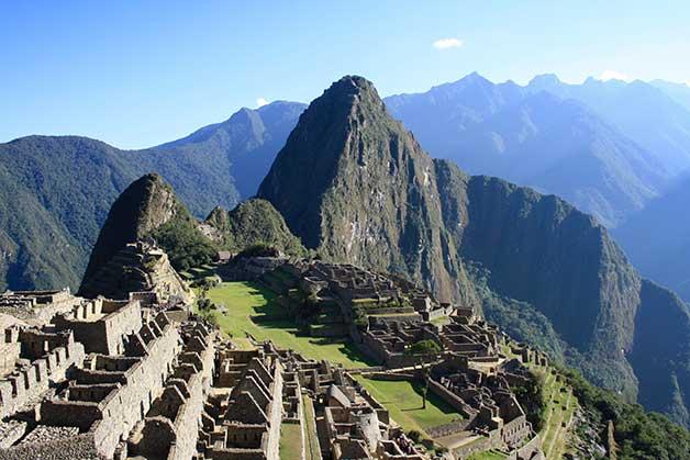 Ancient town of Machu Picchu in Peru