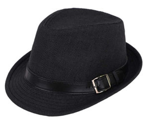 The Black Faux Fedora Hat