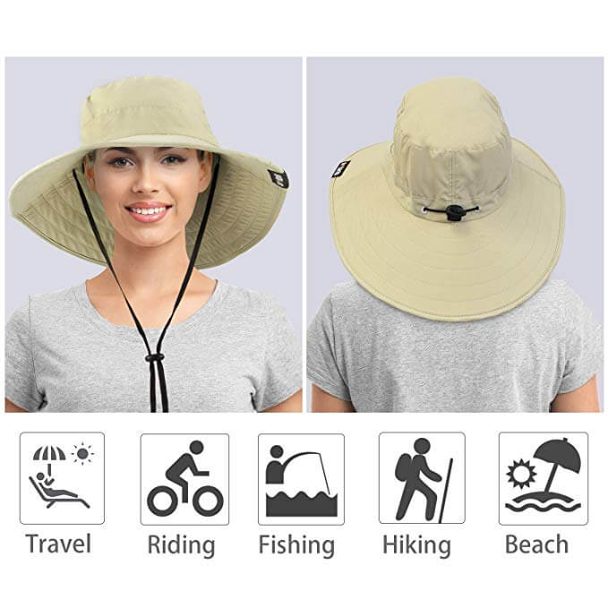 Wide Brim UV Protection Outdoor Hat for Gardening