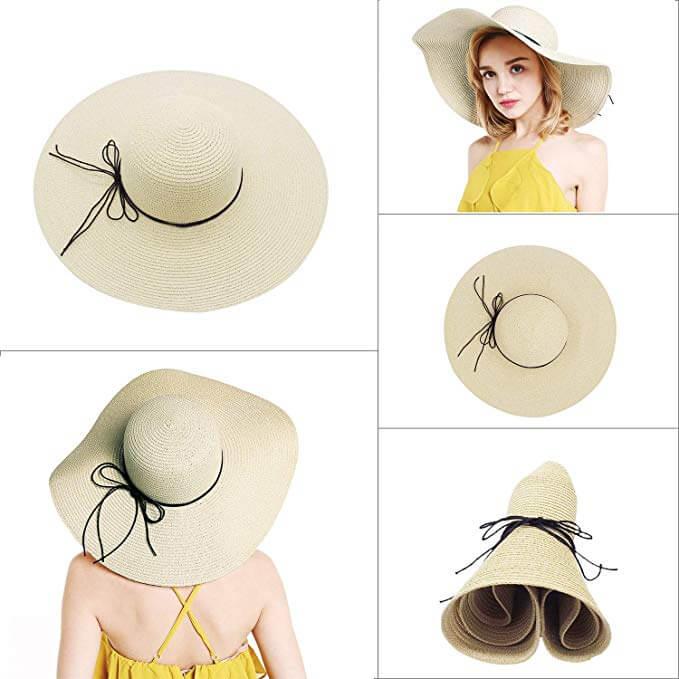 3. Floppy Straw Hat Large Brim Sun Hat