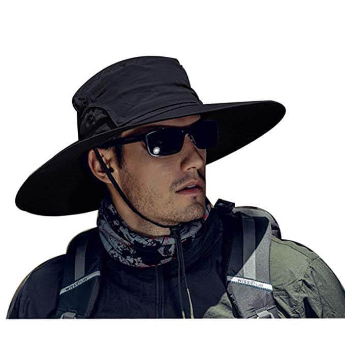 3. Folouse Sun Hat, Breathable Boonie Adjustable Sun (Gardening) Hat for Men