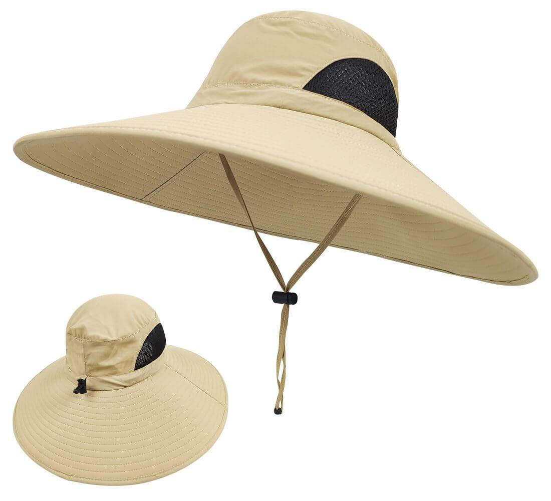 LETHMIK Wide Brim Waterproof Sun Protection Hat for Women