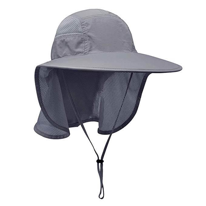 6 Lenikis UV Protecting Men Gardening Hat with Neck Flap