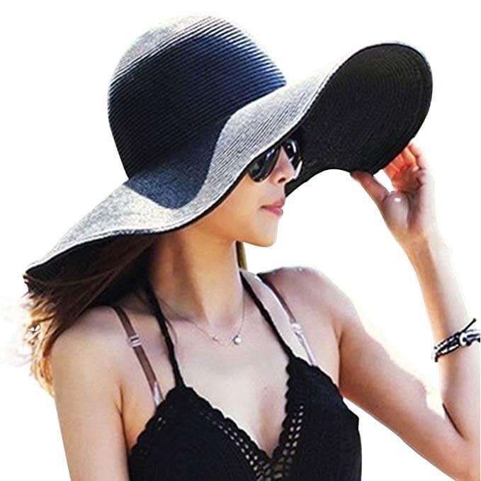 7 Womens Big Bowknot Straw Gardening Hat
