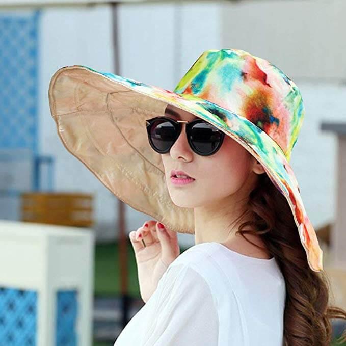 8 Waterproof Women Rain Hat - Wide Brim Bucket Hat