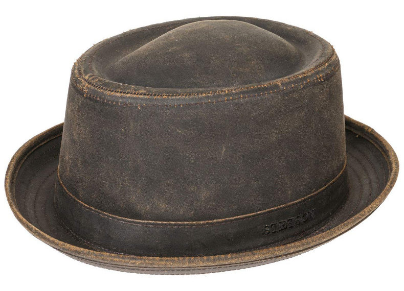 A Vintage Leather Bowler Hat by Stetson