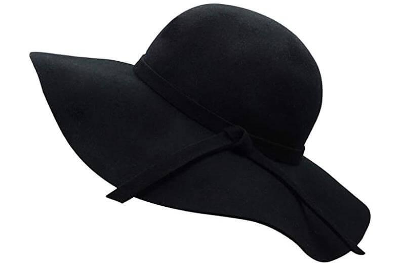 long face - floppy hat