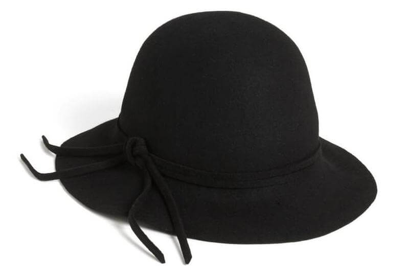 square face - felt hat